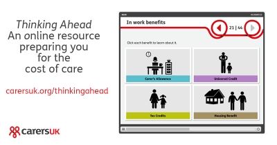 Thinking Ahead - Carers UK's new resource