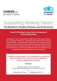 European Evidence paper - Supporting Working Carers