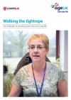 Walking the tightrope: The challenges of combining work and care in later life